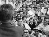 Democratic Presidential Candidate John F Kennedy Speaking to Supporters at a Rally