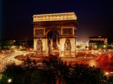 Arc de Triomphe in Place de L'Etoile at Night