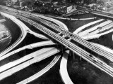 Aerial View of Hub of the Freeway System Including the Hollywood Freeway and the Harbor Freeway