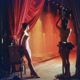 Las Vegas Chorus Showgirls Backstage During a Performance