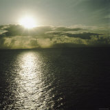 Sun Shining Brightly on Waters Off Dominica