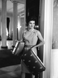 Jacqueline Kennedy in the Process of Redecorating the Blue Room of the White House
