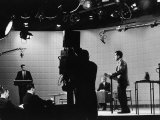 Presidential Candidates Senator John Kennedy and Republican Rep Richard Nixon Debating