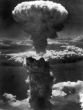 Atomic Bomb Smoke Capped by Mushroom Cloud Rises More Than 60 000 Feet Into Air over Nagasaki