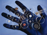 Handful of Microelectronic Parts