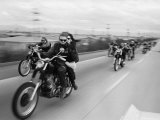 Hell&#39;s Angels Motorcycle Gang on the Road