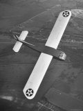 Aerial View of Glider Flying over Wright Field