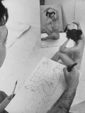 David Fredenthal Drawing Nude Model