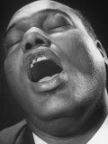 Close Up of Conductor of St Paul's Baptist Church Choir  Earl Hines Singing