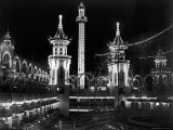 Luna Park  Coney Island  at Night  Lit by Many Lights