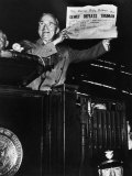 Victorious President Harry Truman Displaying Chicago Daily Tribune Headline  Dewey Defeats Truman