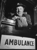 Ambulance Driver Knitting For the English Army During WWII
