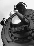 Hooded Locomotive Headlight  the Symbol of the Railroads Complete Change over to War