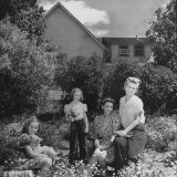 Patricia Colleen Altree Sitting in the Garden with Her Family