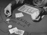 Blackjack Game in Progress at Las Vegas Club