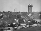 Levittown Water Tank Looming over Middle Class Homes in New Housing Development