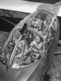 Close Up of Soldiers Sitting in Glider