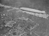 750 Foot Long Graf Zeppelin LZ 127 Flying Above British Capital