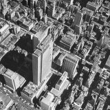 Aerial View Showing Many Tall Office Buildings  Crowding Radio City