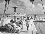Miami Beach's Versailles Hotel Holding a Fashion Show on Terrace  Sponsored by Saks Fifth Avenue
