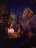 Hippies in a Psychedelic Coffee Shop