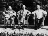 Big Three Allied Leaders at Potsdam Conference  Discussing Plans For the Future of Germany