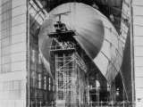 Completed Iron Framework of Zeppelin Being Covered with Cotton Cloth at Fabrication Plant