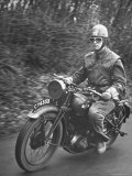 Dispatch Rider Riding Motorcycle