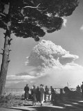 Spectators Viewing Eruption of Volcano Mount Vesuvius