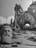 Head of Christ in Front of Destroyed Cathedral 2 Miles from Where the US Dropped an Atomic Bomb