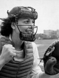 Mary &quot;Binnie&quot; Baker Plays Catcher For All American Girls Baseball League on the South Bend Team