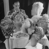 Chief Hair Stylist Sydney Guilaroff  Styling Wigs at the MGM Studio