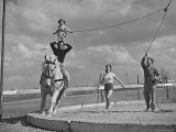 Circus Performers Practicing Stunt