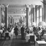 People Dining in the Hotel Dining Room