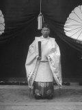 High Priest Matsutaro Suzuki Standing Outside Inari Shrine