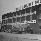 View of a Corn Cob Pipe Factory