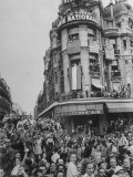 Crowds Jam Streets and Balconies Waiting to Greet Charles DeGaulle Following Liberation of Paris