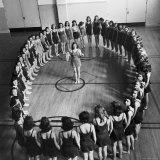 High School Girls Taking Rhythmic Dancing For Body Balance and Control
