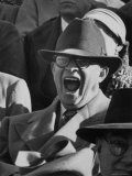Dwight D Eisenhower Attending Football Game Shouting