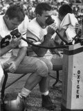 Duke Football Players Breathing Oxygen from a Bottle During the Game