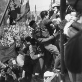 Japanese Communists Swarm Platform in Meiji Park and Call For a March on Imperial Plaza