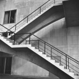 Flying Stairway to Terrace of United Nations&#39; Meeting Hall at Its New East River Headquarters