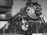 Locomotive of Train at Water Stop During President Franklin D Roosevelt&#39;s Trip to Warm Springs
