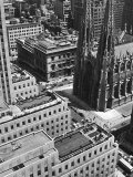 Looking Down on Saint Patrick&#39;s Cathedral  New York City