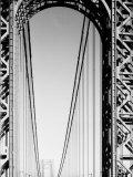 Looking Head on at Roadway of George Washington Bridge