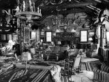 Living Room of Lodge on Oilman Frank Phillips Woolaroc Ranch Outside Bartlesville
