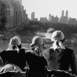 Girls Wearing Bandannas  Looking Out over Central Park