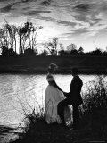 Nancy Stallworth and Emil Tolimieri Holding Hands on Tombigbee River Below Ante Bellum Mansion