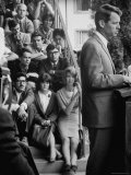 Attorney General Robert F Kennedy Talking During a Meeting