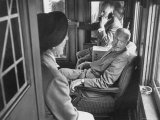 Dwight D Eisenhower on the Train During the Presidential Campaigns